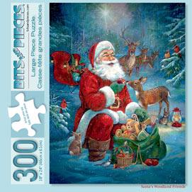 Santa's Woodland Friends 300 Large Piece Jigsaw Puzzle