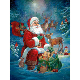 Santa's Woodland Friends 1000 Piece Jigsaw Puzzle