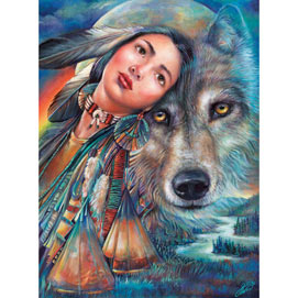 Dream of the Wolf Maiden 1000 Piece Jigsaw Puzzle