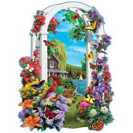 Lakeside Arbor 750 Piece Shaped Jigsaw Puzzle