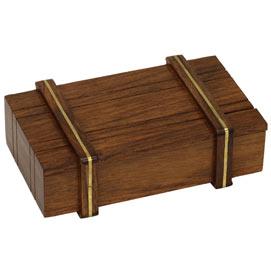 Secret Locked Box with Brass