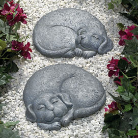 Sleeping Dog Stepping Stone - Facing Right