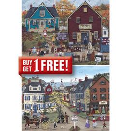 Set of 2: Sharon Ascherl 1000 Piece Jigsaw Puzzles
