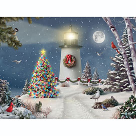 Coastal Holiday Lights 500 Piece Jigsaw Puzzle