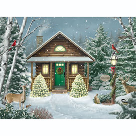 Christmas Cabin 500 Piece Jigsaw Puzzle