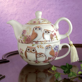 Owl Tea for One Set