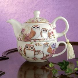 Owls Tea for One Set