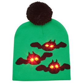 LED Light Up Bats Knit Hat