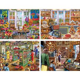 Set of 4: Steve Crisp 300 Large Piece Jigsaw Puzzles