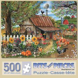 Bountiful Meadow Farm 500 Piece Jigsaw Puzzle