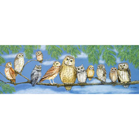 Owl Talk 500 piece Panoramic Jigsaw Puzzle