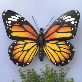 Metal Monarch Butterfly Wall Art
