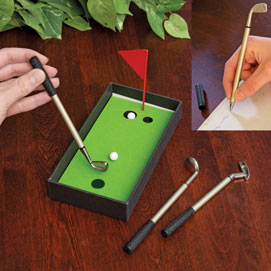 Mini Golf Putting Green Pen Set