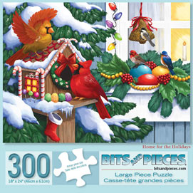 Home for the Holidays 300 Large Piece Jigsaw Puzzle