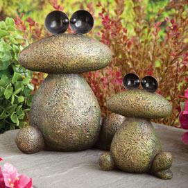 Stone Frog Garden Sculptures