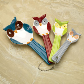 Ceramic Owl Measuring Spoons