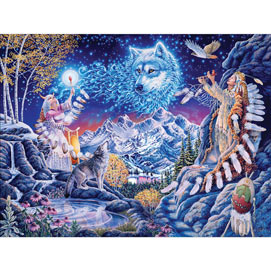Wolf Spirit 300 Large Piece Jigsaw Puzzle