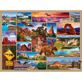 National Parks 500 Piece Collage Jigsaw Puzzle