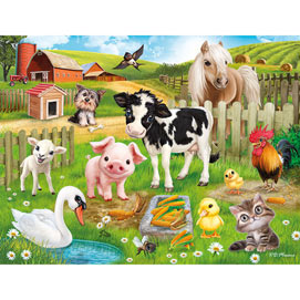 Farm Animal Club 200 Large Piece Jigsaw Puzzle