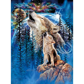 Wolves Harmony 500 Piece Jigsaw Puzzle