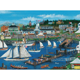 Port Townsend Wooden Boats 300 Large Piece Jigsaw Puzzle