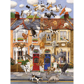 Raining Cats & Dogs 300 Large Piece Jigsaw Puzzle
