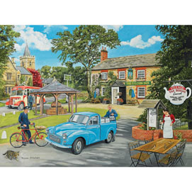 The Village Tea Rooms 300 Large Piece Wood Jigsaw Puzzle