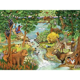 Forest Creek 300 Large Piece Jigsaw Puzzle