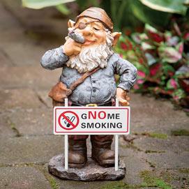 Gnome Smoking Garden Statue
