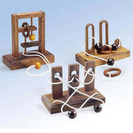 Set of 3: Torture Times Three Wooden Puzzles