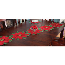Set of 5: Poinsettia Runner - 70