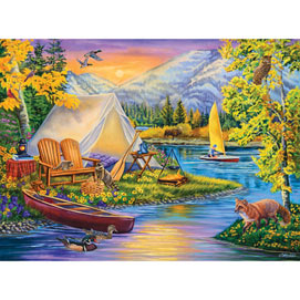 Camping Out 500 Piece Jigsaw Puzzle