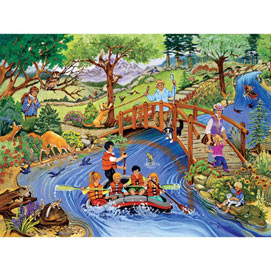 Rafting Adventure 500 Piece Jigsaw Puzzle