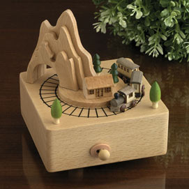 Moving Train Wooden Music Box - Take Me Home, Country Roads