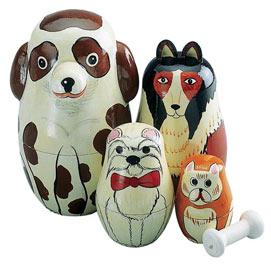 Dogs Nesting Doll Set