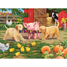 Tug of War 300 Large Piece Jigsaw Puzzle
