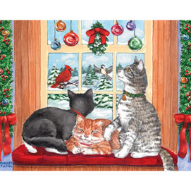 Window Cats 200 Large Piece Jigsaw Puzzle