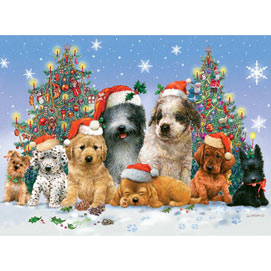 Canine Christmas 1000 Piece Jigsaw Puzzle