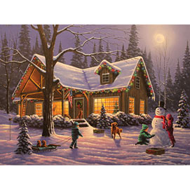 Family Traditions 500 Piece Glow-in-the-Dark Jigsaw Puzzle