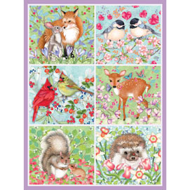 Forest Love Quilt 300 Large Piece Jigsaw Puzzle