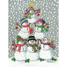 Snowmen Tree 300 Large Piece Jigsaw Puzzle