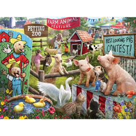 Farm Animal Festival 500 Piece Jigsaw Puzzle