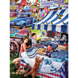 Blueberry Festival 500 Piece Jigsaw Puzzle
