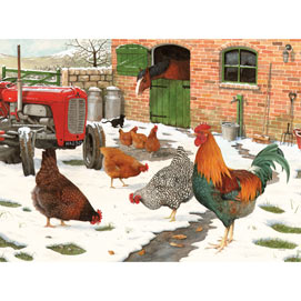 Winter Hens 1000 Piece Jigsaw Puzzle