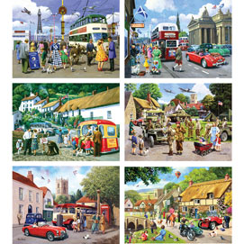 Set of 6: Kevin Walsh 500 Piece Jigsaw Puzzles