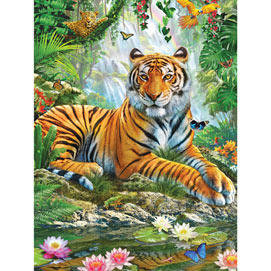 Tiger on a Rock 1000 Piece Jigsaw Puzzle