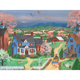 Kite Flyers 300 Large Piece Jigsaw Puzzle