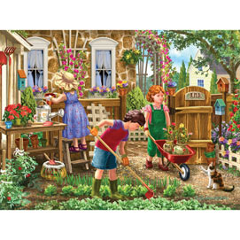 Green Thumb Club 300 Large Piece Jigsaw Puzzle