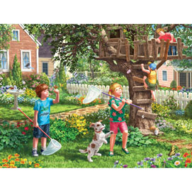 Back Yard Fun 500 Piece Jigsaw Puzzle