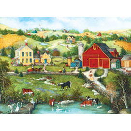 Homestead on the Farm with Animals 1000 Piece Jigsaw Puzzle